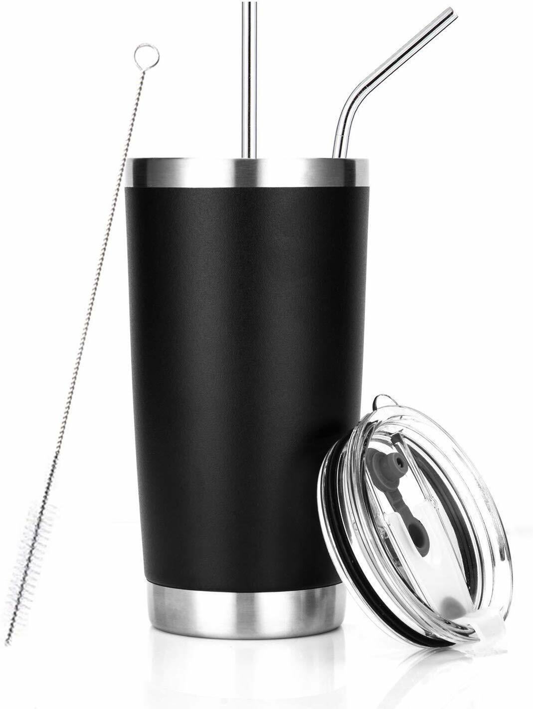 20 oz Tumbler Stainless Steel Insulated Travel Mug with Stra