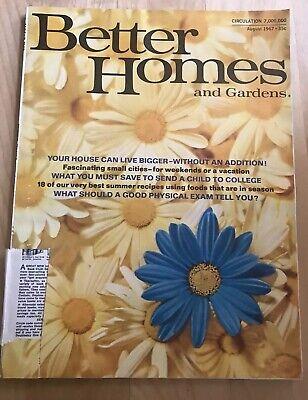 Better Homes & Gardens August 1967 Magazine Interior Decorating