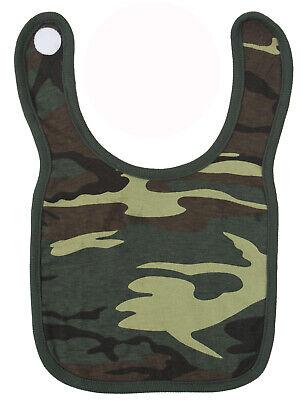 Infant Camo Bib Woodland Camouflage Baby Apron Cotton Rothco 66045 Woodland Cotton Bib