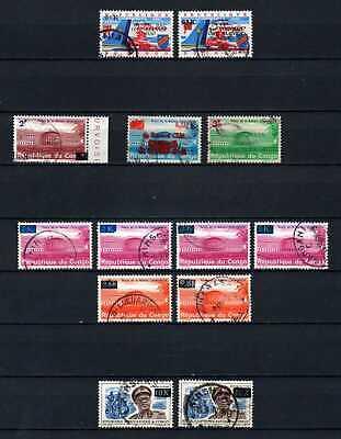 Belgisch Congo Belge Rep. Congo Kinshasa 13 used stamps with diff. Overprints