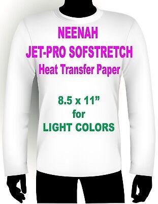 Sofstretch Inkjet Iron On Heat Transfer Paper Neenah Jet Pro Ss 8.5 X 11 25 Pk