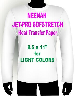 Sofstretch Inkjet Iron On Heat Transfer Paper Neenah Jet Pro Ss 8.5 X 11 100 Pk