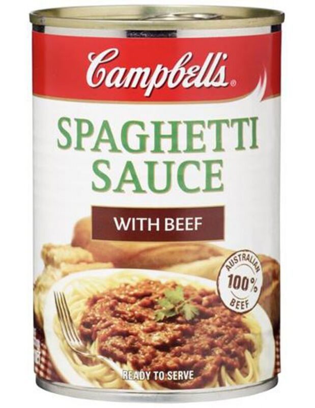 Campbell Soups Spaghetti Sauce Beef Bolognese 97% Fat Free 410g