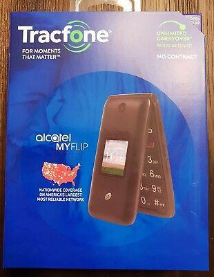 New Tracfone Alcatel My Flip MyFlip A405 Prepaid Basic Cell Phone