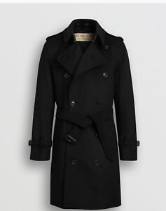 Burberry men's cashmere wool trench coat
