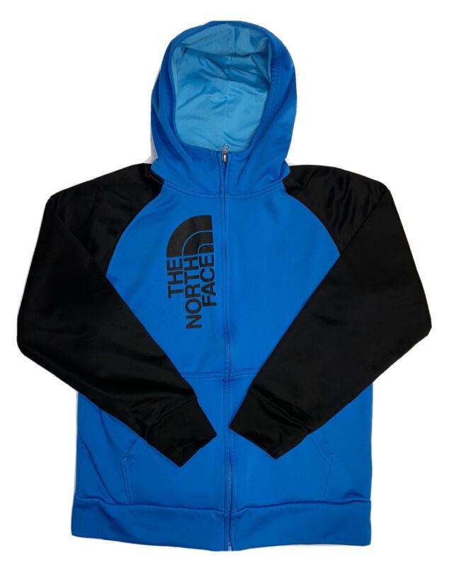The North Face Boy's Full Zip Blue & Black Half Dome Hoodie Sweatshirt Sz Large