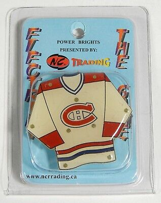 Montreal Canadiens Flashing LED Light-Up Jersey Magnet Pin New NIP Habs Hockey, used for sale  Rochester