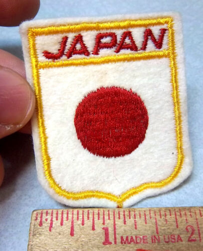JAPAN, beautiful embroidered Patch, colorful Rising Sun, nice collector item