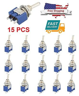 15pcs Ac Onon Spdt 2 Position Micro Mini Toggle Switch 6 Amp Ac125v