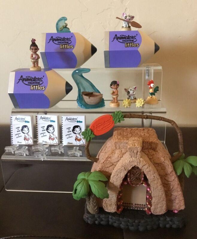 Disney Animators Collection Littles MOANA Playset Moana Pua Baby Moana Chaser