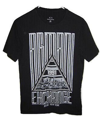 Armani Exchange Mens 1991 A/X Black Short Sleeve T Shirt Mens size XS