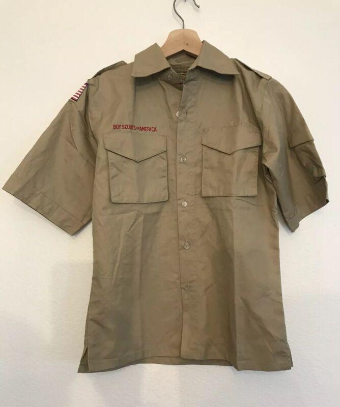 Boy Scouts of America BSA Youth Short Sleeve Poplin Shirt Size Youth Medium