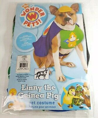 Nick JR Wonder Pets Linny the Guinea Pig Dog Costume Large New - Harry Potter Pet Costumes