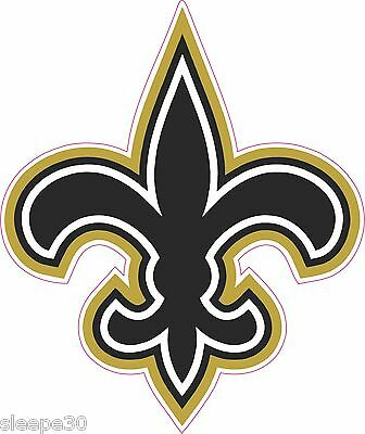Fleur De Lis Shaped Vinyl Sticker Decal Saints New Orleans *FREE - Fleur De Lis Stickers