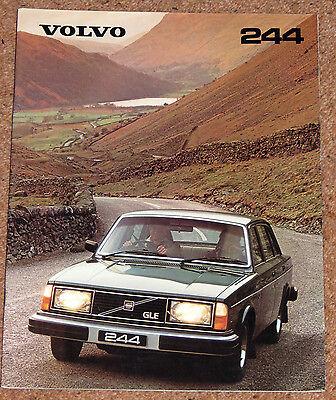 1980 VOLVO 244 Sales Brochure - 244 DL 244 GL 244 GLE - Excellent Condition