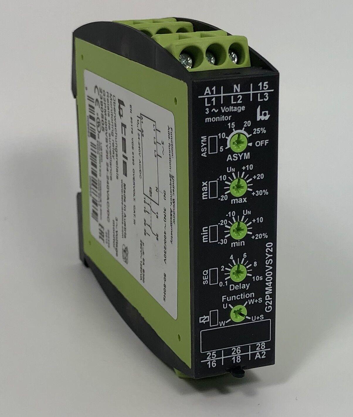 Relé De Monitoreo De Tensión Gamma Tele G2PM400VSY20 Interruptor DPDT contactos 3 fases