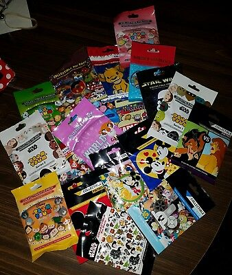 Disney Pins AUTHENTIC Random Mystery Packs 50 pins 10 PACKS SEALED L@@K