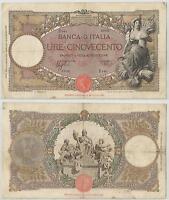 Regno D'italia - 500 Lire ,mietitrice, 1941 -  - ebay.it