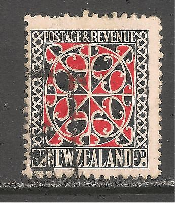New Zealand #195 (A68) FVF USED - 1935 9p Maori Panel from Door
