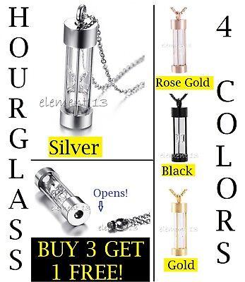 Cremation Urn Necklace (Hourglass Cremation Keepsake Memorial Urn Necklace Link Chain Ashes Holder )