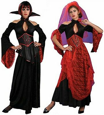 2-in-1 Vampiress Spanish Dancer Vampire Senorita Dress Halloween Adult Costume