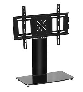 table top black tv pedestal replacement stand with swivel. Black Bedroom Furniture Sets. Home Design Ideas