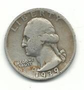 Silver Washington Quarters 1939 S