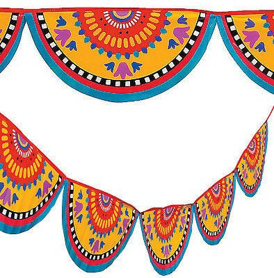 48 Ft Mexican Bunting Banner Cinco de Mayo Fiesta Party Garland Decor 2-24'](Fiesta Garland)