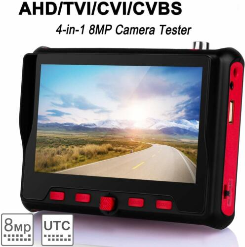 "5"" HD CCTV Tester Monitor CVBS AHD CVI TVI 8MP Camera PTZ UTP Tester 12V"
