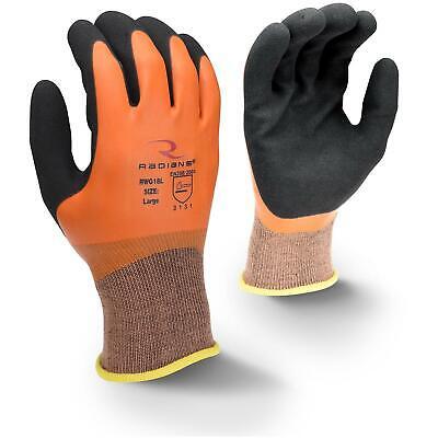 Radians Latex Coated Waterproof Nylon Work Gloves