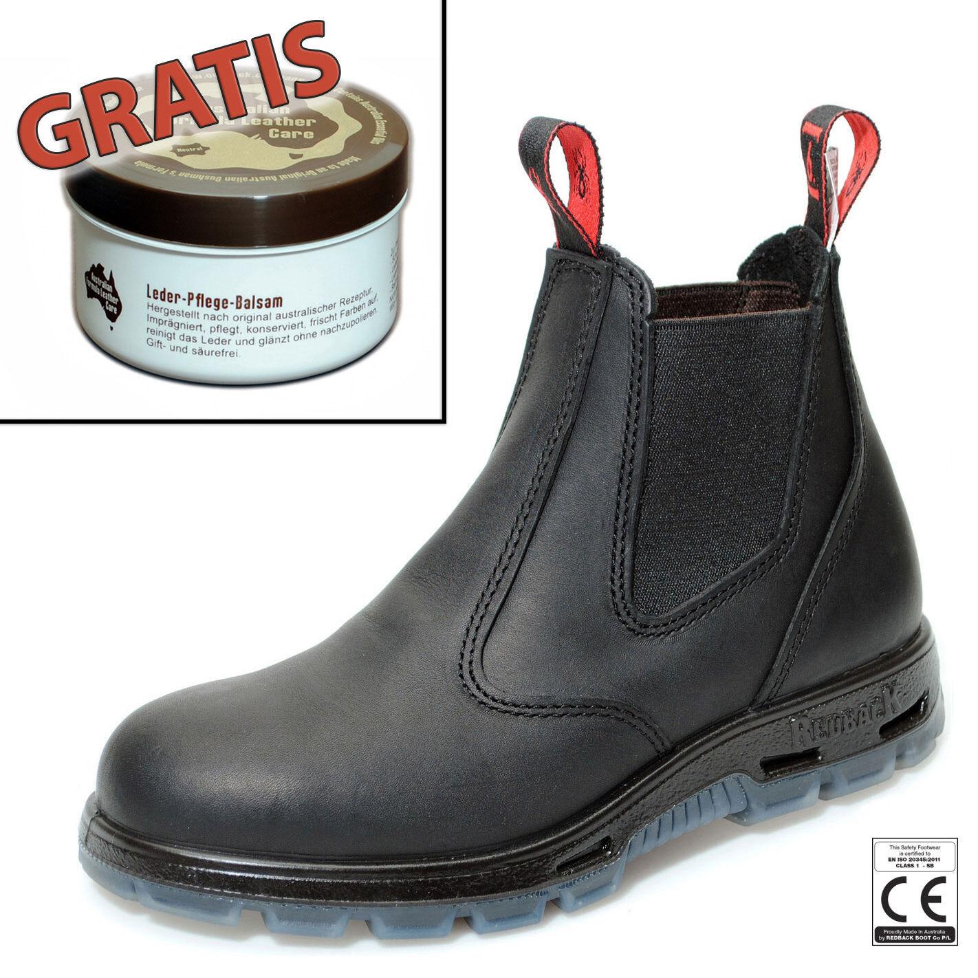 Redback Work Boots Sicherheitsschuh Arbeitsschuh Stahlkappe USBBK Black +Zugabe