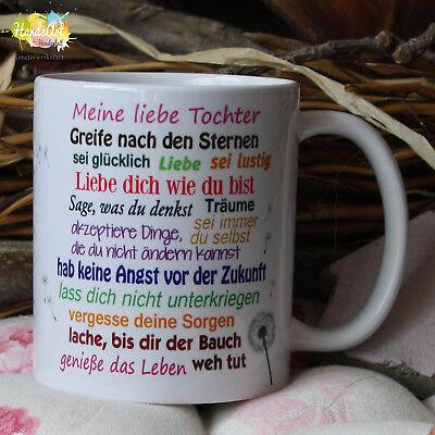 Valentin Kinder (Tasse / Meine liebe Tochter / Geschenk Kinder Weihnachten Valentinstag)