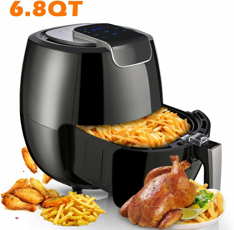 LCD Digital Air Fryer XL 6.8QT, 1800W Electric Hot Air Fryer