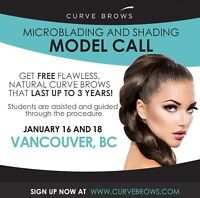 Microblading and ombré eyebrow models needed
