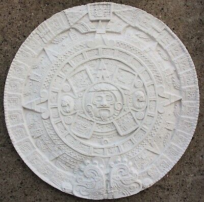 Maya Aztec Wall Calendar Cast Stone White for Home Garden New Frost Resistant