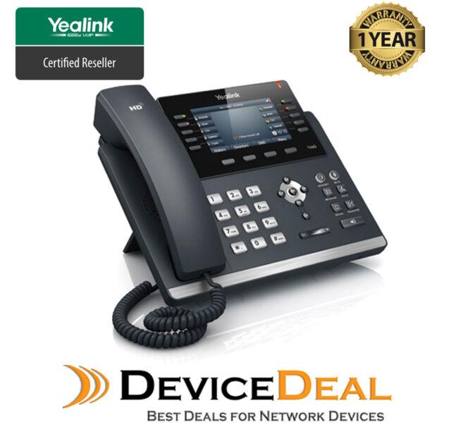 Yealink SIP-T46G   6 Line Ultra-Elegant Gigabit IP Phone - AU Warranty QTY Stock