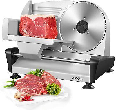 Aicok Meat Slicer Electric Deli Food Slicer For Home Use 7.5 Blade Sl-519n