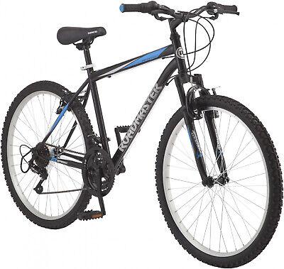 d7e249ac824 Black/Blue Mens Mountain Bike 26 Alloy Rim Wheels W/ Tool-Free Adjustable  Seat