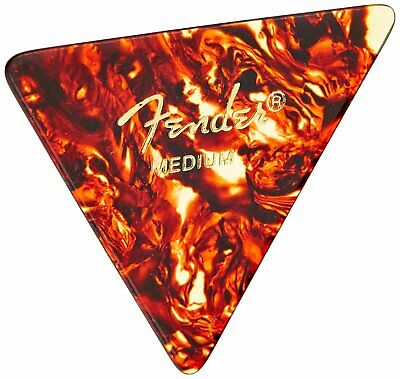 TEAR DROP PLECTRUMS 10 Red Pearl Thin 0.5mm stamped Fender in Gold