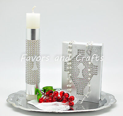 Silver First Communion Candle Set Spanish Boys Girls Gift Vela Primera - Boys First Communion