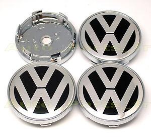4 caches jante moyeux centre de roue boulon vw volkswagen 60mm ebay. Black Bedroom Furniture Sets. Home Design Ideas