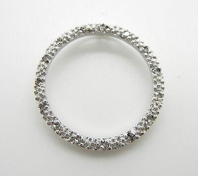 925 STERLING SILVER GENUINE DIAMOND CIRCLE PENDANT NECKLACE