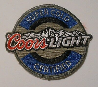 Coors Light Beer  Patch Embroidered Ale 3 inch Made in USA  iron on Super Cold