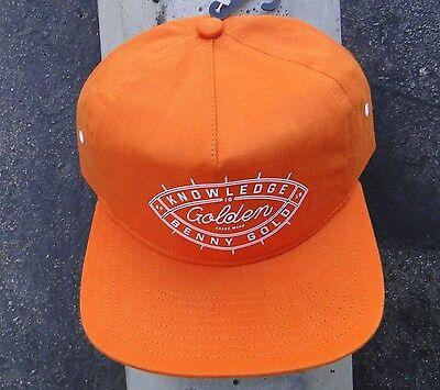 Benny Gold Skate Co  Know Ledge Orange Mens Snapback Hat Htben 33