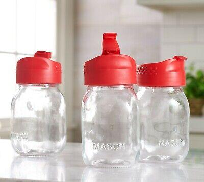 Mason Jar Mugs Bulk (Set of 3 QVC 17 oz Glass Mason Jar Tumblers With Gift Boxes and Lids -)