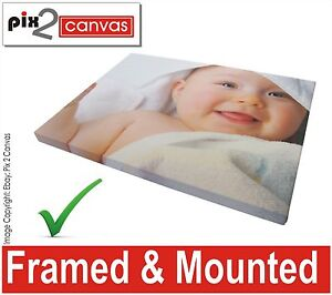 Your Picture Photo Personalised on to Print Canvas Box Framed / Roll A4 A3 A2 A1