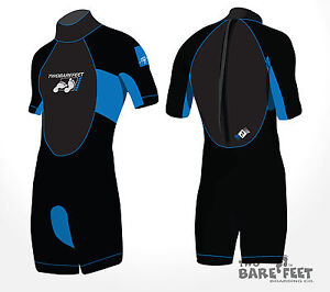 NEW TBF Signature Kids Childs Junior Shorty Wetsuit Ages 2 - 16 by Two Bare Feet