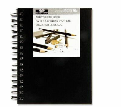 Royal & Langnickel A5 80 Sheet Hardback Wirobound Artist Sketchbook Drawing Pad