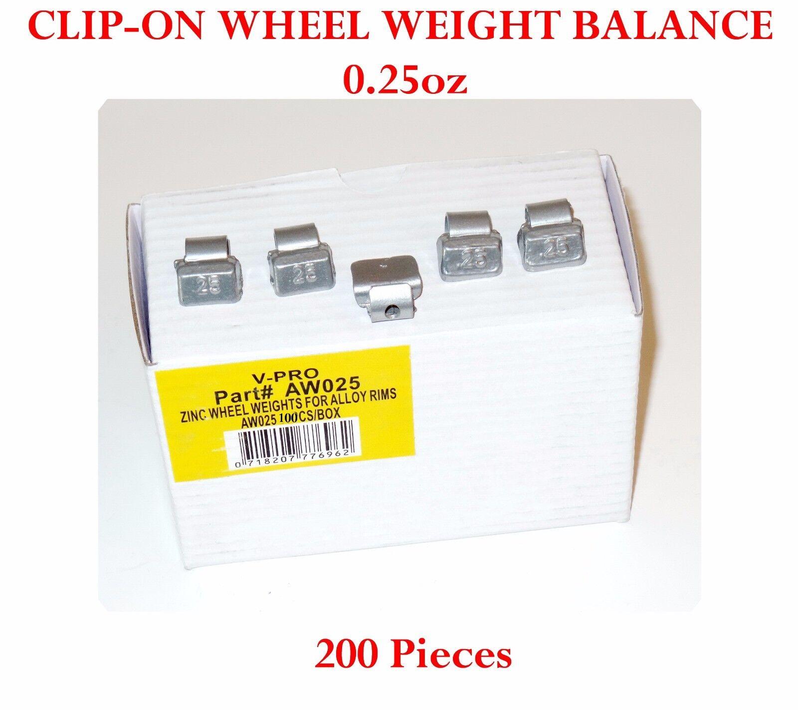 200 Pcs CLIP-ON Wheel Weight Balance 0.75oz 3//4 oz AWZ075oz Zing Lead Free