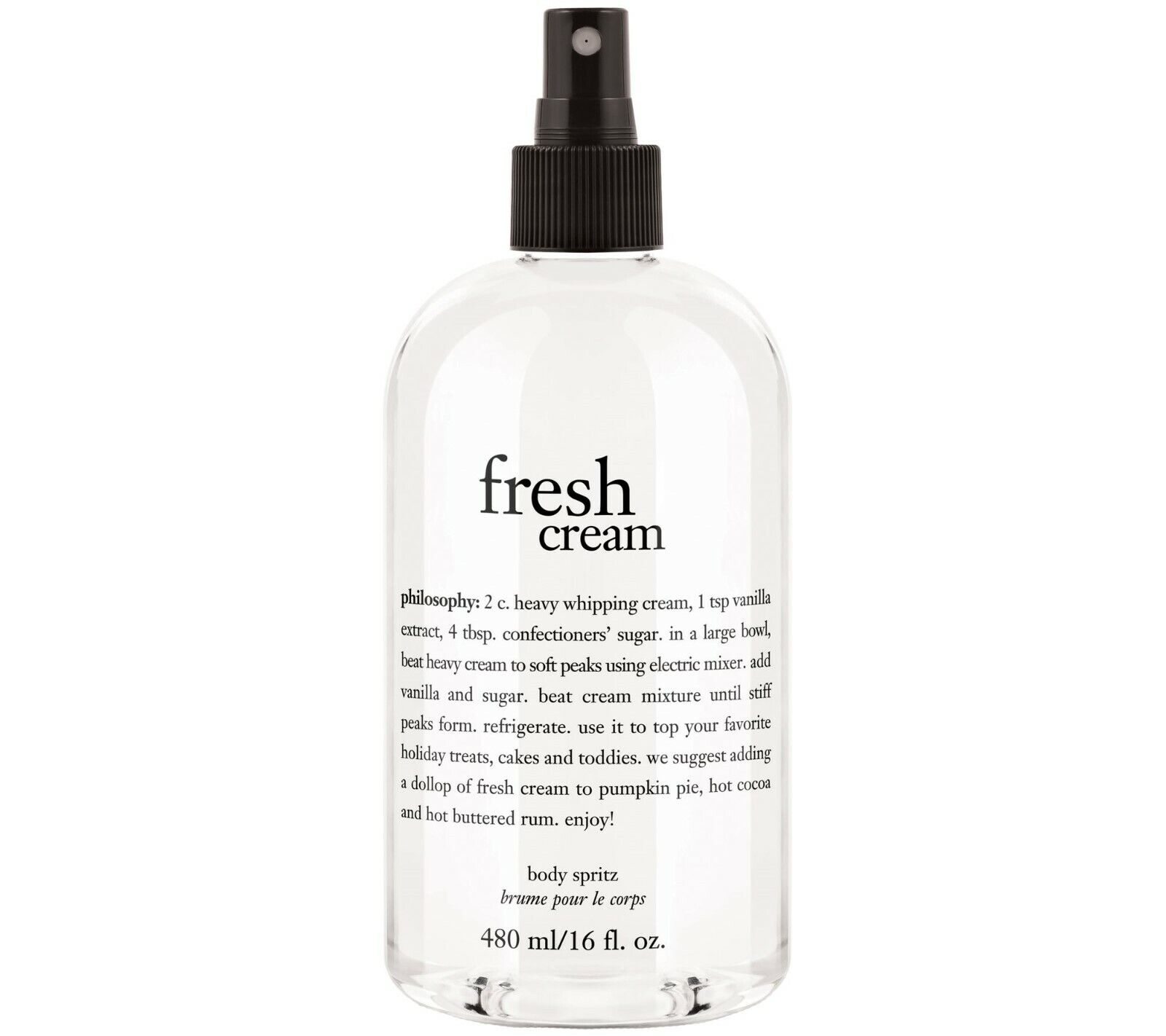 Philosophy Fresh Cream Body Spritz 16 Fl Oz with Pump